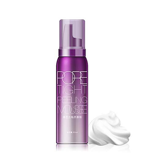 Face Exfoliators Exfoliating Mousse Oil Control Moisturizer Cleanser Removing Dead Skin Shrink Pores Skin Care Blackhead Facial Care for Women Girls